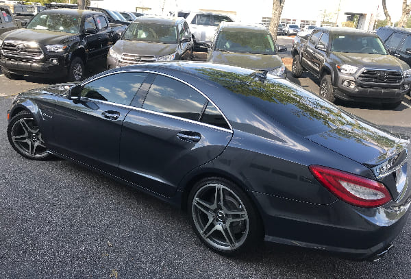CLS 63 FX 35% 3M film and 35% front windshield